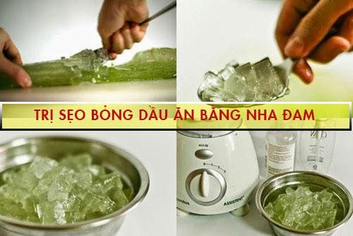 cách trị sẹo bỏng dầu ăn