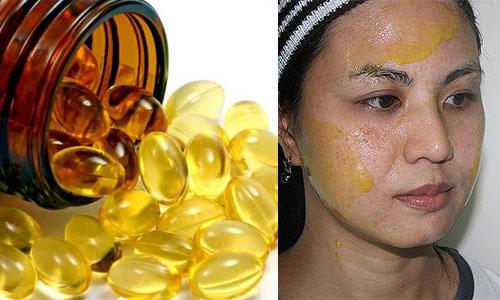 trị sẹo lõm lâu năm bằng vitamin e