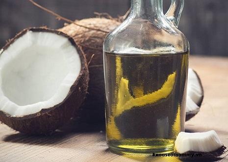 cách trị sẹo rỗ bằng dầu dừa