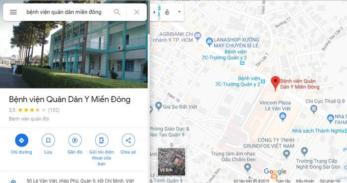 địa chỉ bệnh viện quân dân miền đông