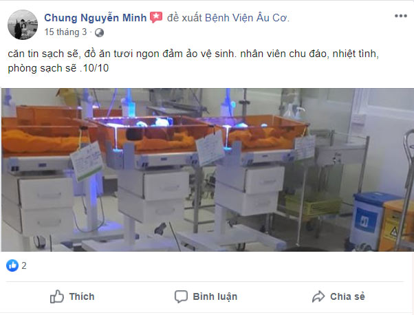 review bệnh viện phụ sản âu cơ
