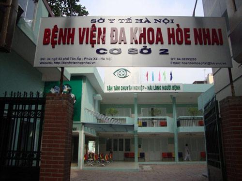 bệnh viện hòe nhai cơ sở 2